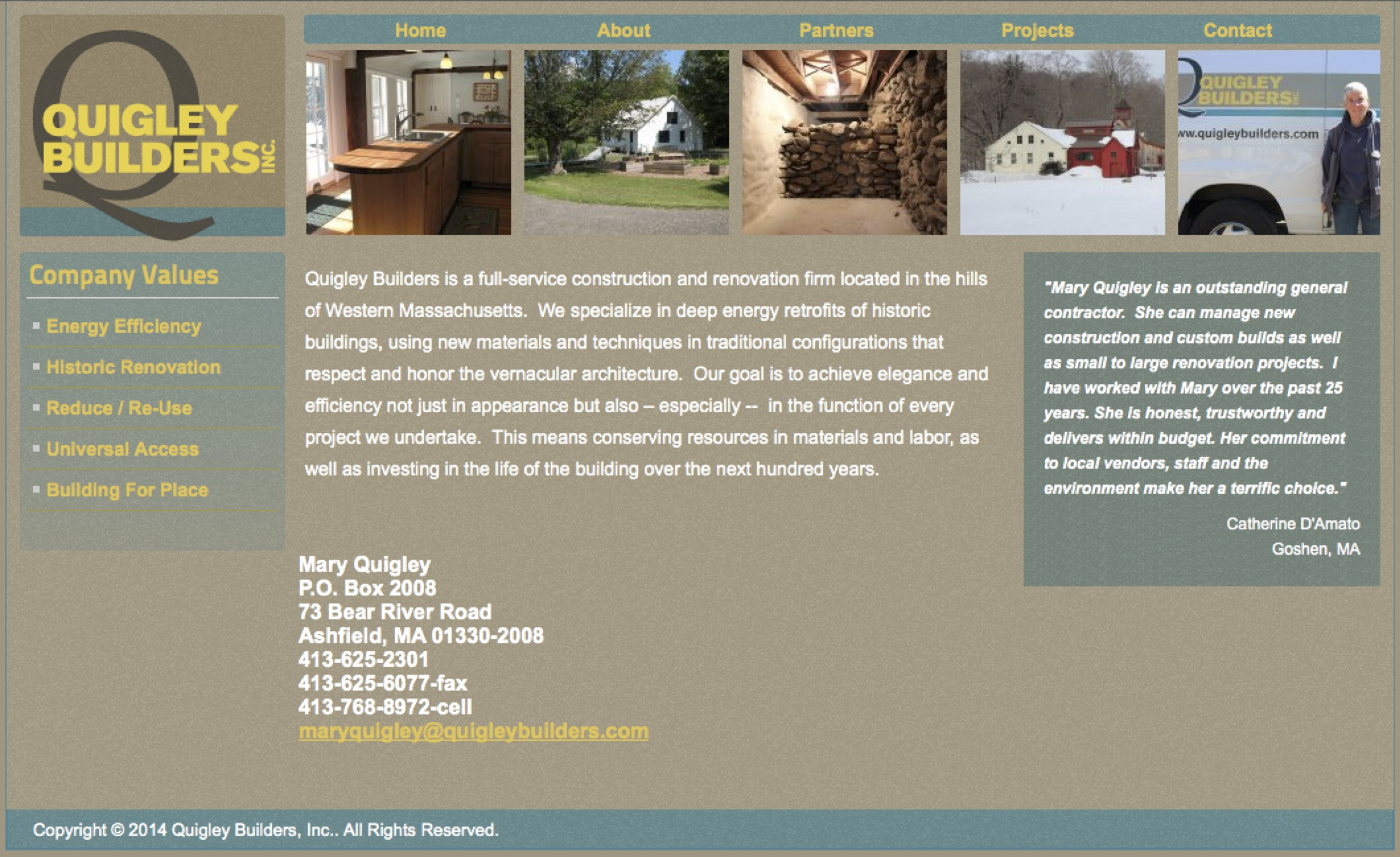 Quigleybuilders.com Home